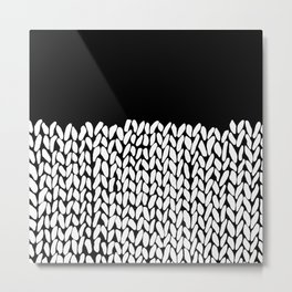 Half Knit  Black Metal Print