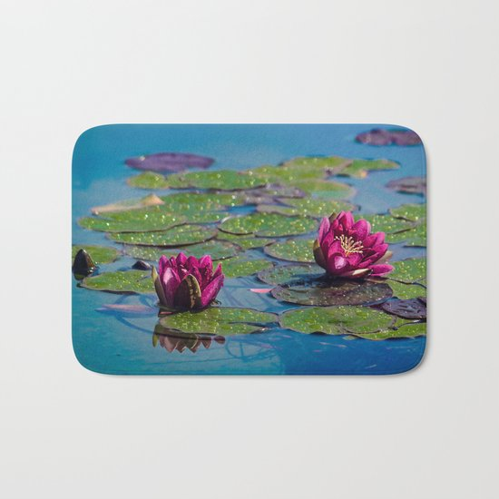 Two water lilies Bath Mat