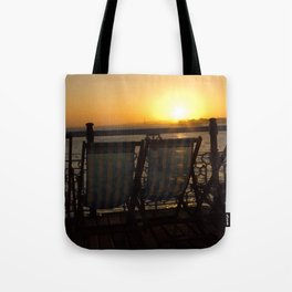 Sunset from Brighton Pier Tote Bag