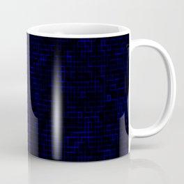 Dark Blue Pixels Coffee Mug