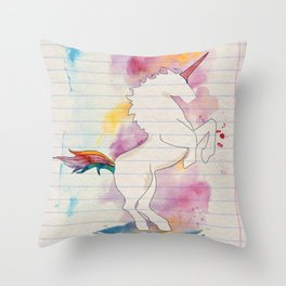 The Power of the Unicorn Throw Pillow