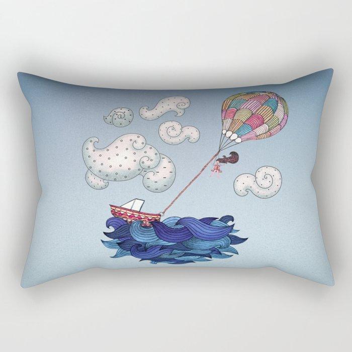 A Textured World Rectangular Pillow