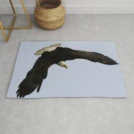 The Descent - Bald Eagle Wildlife Art Rug