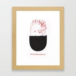 Burn Framed Art Print