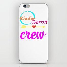 Kindergarten Crew Teacher 1st Day School design iPhone Skin