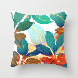 color leaves Throw Pillow