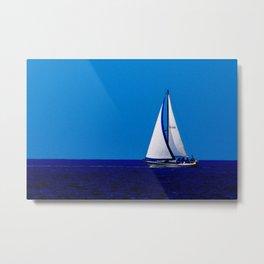 Sailing Away On Lake Michigan Metal Print