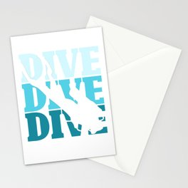 Dive divers Stationery Cards