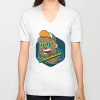 chewbacca V-neck T-shirts featuring Chewbacca Hipster  by Redwane