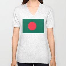 Bangladeshi Flag (High Quality image) Unisex V-Neck