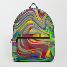Vibrant Abstract Whirl Pool Backpack
