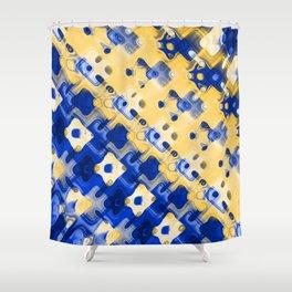 Abstract FF DDDAA Shower Curtain