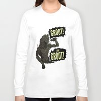 groot Long Sleeve T-shirts featuring Groot! I am Groot! by mstfaCmly