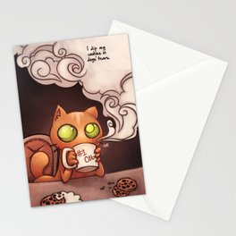 Cookies and cat Stationery Cards