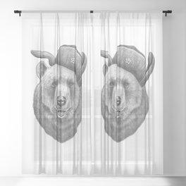 Russian bear Sheer Curtain