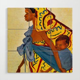Mama Toto African Mother and Child - Sher Nasser Artist Wood Wall Art