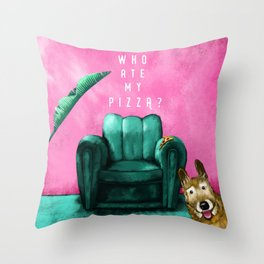 Who ate my pizza? Throw Pillow