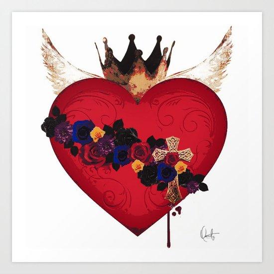 Sacred Heart for Frida Art Print