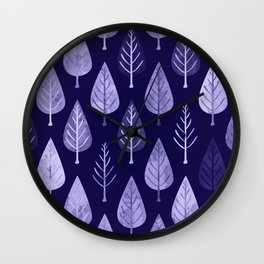 Watercolor Forest Pattern #8 Wall Clock