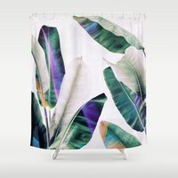 tropical Shower Curtains featuring tropical #1 by LEEMO