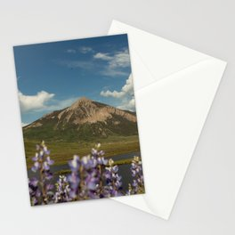 Mount Crested Butte through the Lupines  Stationery Cards