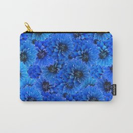 Dahlias in a brilliant blue Carry-All Pouch