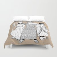 archer Duvet Covers featuring Archer by Art of Tom Tierney