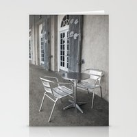 cafe Stationery Cards featuring Cafe by David Turner