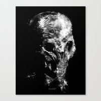 silent Canvas Prints featuring Silent by zerobriant