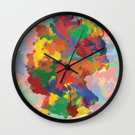 Germany, Outline, Map Wall Clock