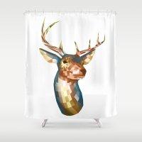 cassandra jean Shower Curtains featuring Deer Jean, by _JC_