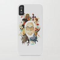 hayao miyazaki iPhone & iPod Cases featuring Miyazaki-San by Danny Haas