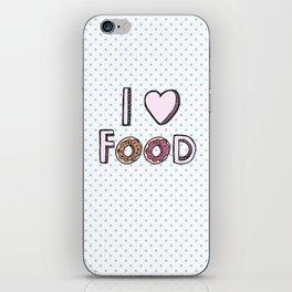 I Love Food iPhone Skin
