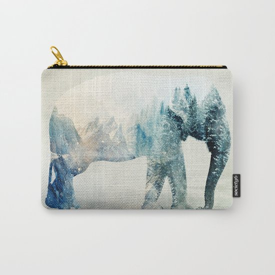 Vanishing Elephant  Carry-All Pouch