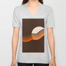 Sundown Stripes Unisex V-Neck