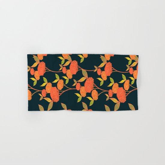 Orange berries. Hand & Bath Towel