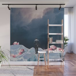 The Path to Solitude is full of Winter Roses Wall Mural