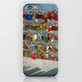 Love Locks, Pont des Arts Bridge, No.2, Paris, France iPhone Case