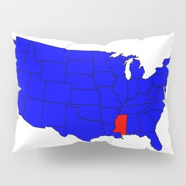 State of Mississippi Location Pillow Sham