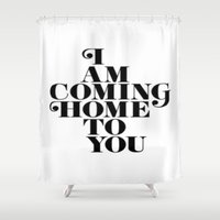 home sweet home Shower Curtains featuring Home by Maheva K