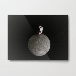 Neil the Moon Penguin Metal Print