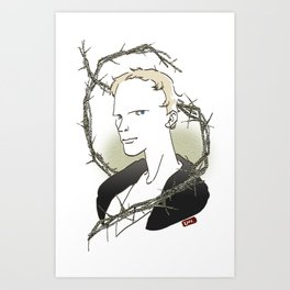 Paul Bettany_geoffrey chaucer Art Print