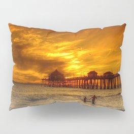 A Winter's Dip * Huntington Beach, California Pillow Sham