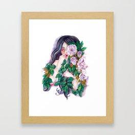 Pale Roses Framed Art Print