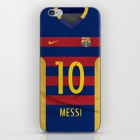 messi iPhone & iPod Skins featuring Barcelona Messi by Diego Tirigall