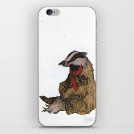 Badger with a Badge iPhone Skin