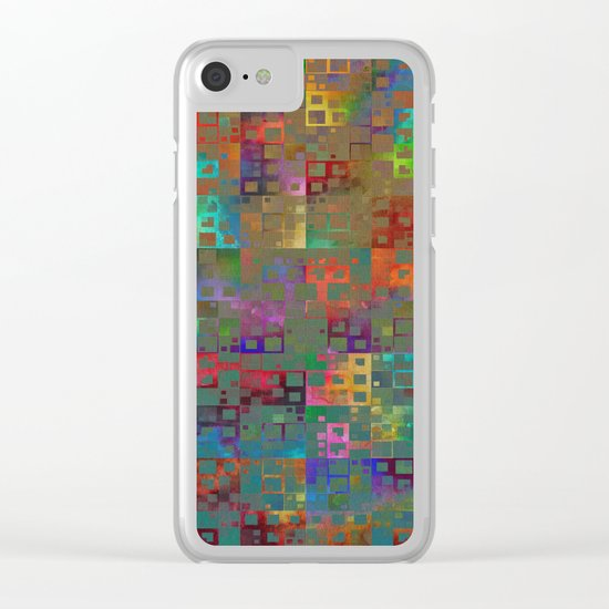 Geometrical Pattern 3 Clear iPhone Case