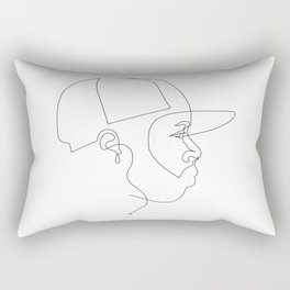 One Line For Dilla Rectangular Pillow