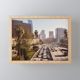 The Rush Hour, DTLA Framed Mini Art Print