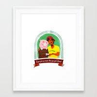 vegan Framed Art Prints featuring Vegan by Bakal Evgeny